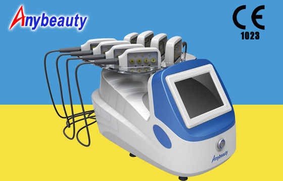 Cina Portable Body Lipo Laser Slimming Machine Dengan 8 Handpiece For Fat Removal pemasok