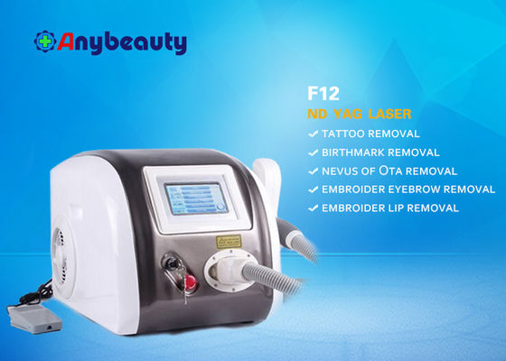 Portable Q Switched Nd Yag Laser Tattoo Removal Machine Layar Sentuh Warna CE Disetujui